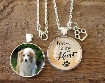 Always in our heart, Memorial, Pendant, Necklace, Double Sided Charm, Memory Charm, Remembrance, Pet Remembrance, Pet Charm