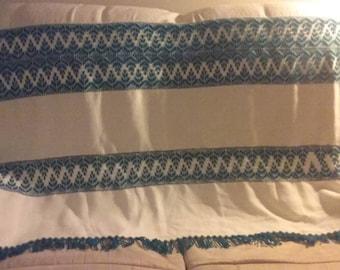 Huck Weave Throw  Blanket