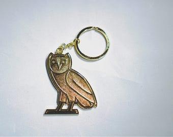 Gold Owl Keychain