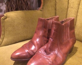 Vintage Mens Brown Boots