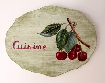 Cherry door plate