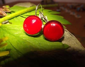 Fire truck red earrings