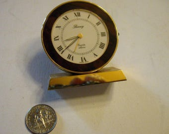 A nice Gold Plated Berney Desk Clock