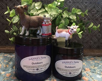 Outdoors Goats Milk Lotion 8oz Jar