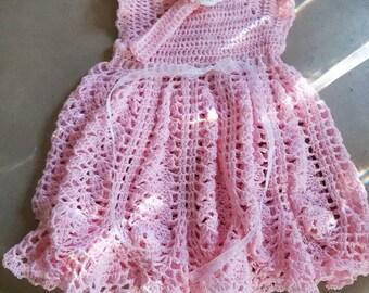 Newborn 0-3 Months Pink Dress