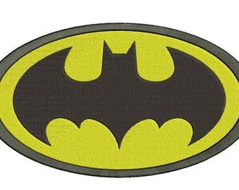 "Batman Logo Embroidery Design Instant Download 3 sizes 4x4"", 5x7"", 6x10"""