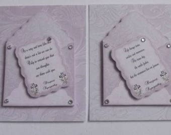Pack 2 Sympathy Embellishment Toppers for Cards and Crafts
