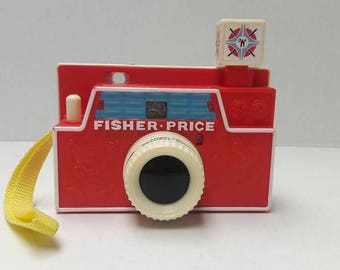 Camera Vintage Fisher Price,Art,Photography, toy,fisher,price,camera,nursery,child,bedroom,print,artwork,wall,hanging,photography,retro,Red,
