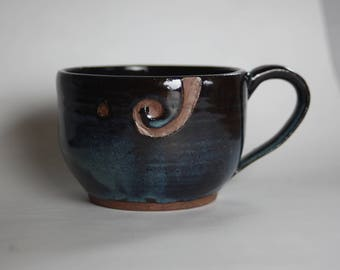 Dark Blue Yarn Bowl Mug