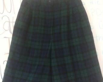 Vintage wool plaid shorts