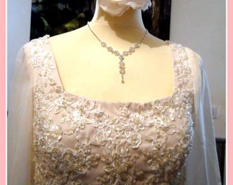 BEADED EMPIRE DRESS