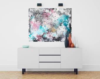 Abstrakte Malerei - Acryl - Leinwand