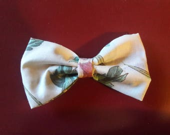 Floral Hair Bow Tie Collar