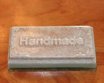 Gardeners Soap, Handmade Soap, Shea Butter, Goats Milk, Texturized, Loofah, Walnut