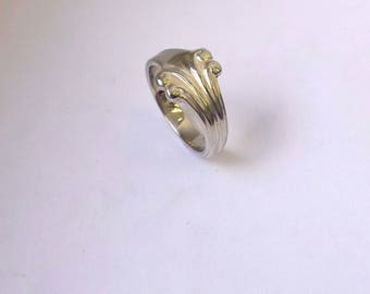 Ornamented ring sterling silver