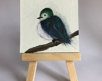 Mini Canvas Painting - Bird