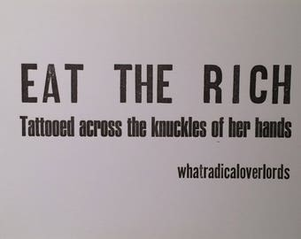 Eat the Rich Letterpress