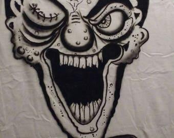 Scary Clown T-Shirt, Mens XL