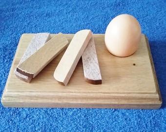 Handcrafted Wooden Egg & Soldier Boards - Beech or Oak