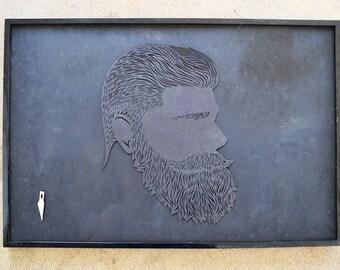 Black Beard Stencil