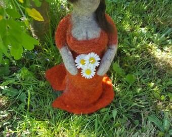 "Handmade felted fat lady ""Elisabeth"""