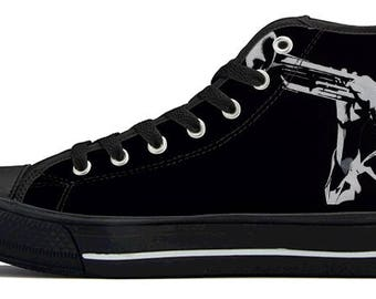 Miles Davis High Top Canvas Shoes