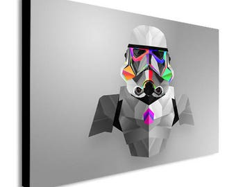 Storm Trooper Abstract Star Wars Canvas Wall Art Print - Various Sizes