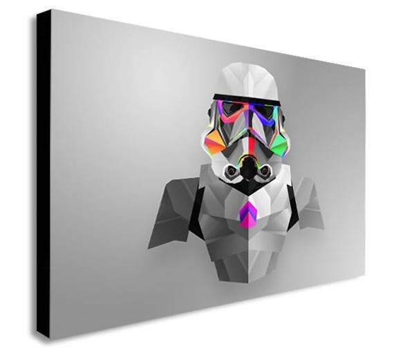 Storm Trooper Abstract Star Wars Canvas Wall Art Print