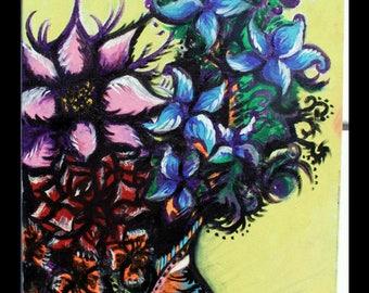 Hand painted elegant wild flowers painting