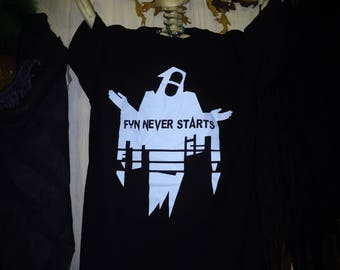 Fun Never Starts Reaper Ghost T Shirt