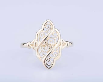 Yellow Gold Marquise ring 18 ct.