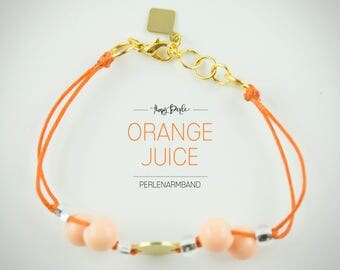 "Pearl bracelet ""Orange Juice"""