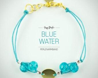 Pearl bracelet 'Blue Water'