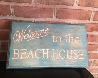 Carved wood sign, Beach Sign, home decor, wall sign, rustic sign, beachhouse sign, housewarming gift,carved wooden sign, woodworking sign