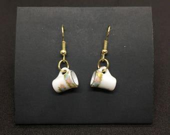 Floral Coffee Mug Earrings