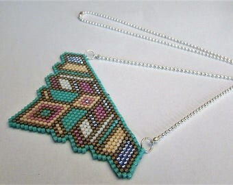 """Plastron"" woven beaded necklace"