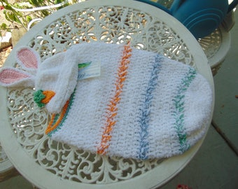 Baby Bunting, or cocoon,  and hat with bunny ears - size 0 to 3 months