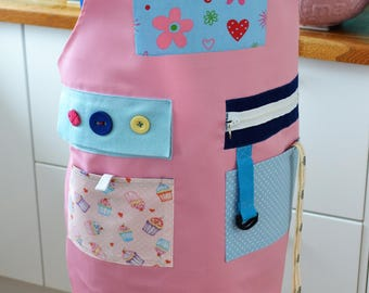 The Original Memory Apron for Memory Loss and Dementia - Bake Off, Medium, Pink
