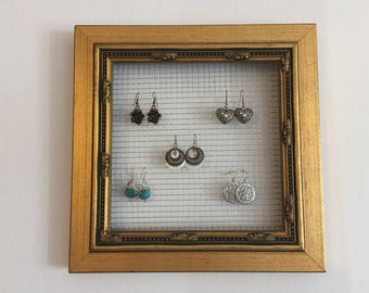 Square Picture Frame Jewelry Organizer