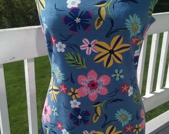 Vintage MOD style floral tank dress, Women's Small