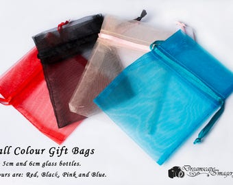 Small gift bags for miniature glass bottles