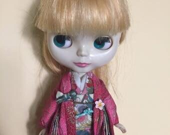 Kimono set doll outfit for Blythe Licca Skipper