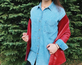 Chambray EVERYDAY Button Up Shirt // Large