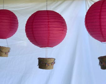 Hot Pink (10 in) Paper Lantern Hot Air Balloons