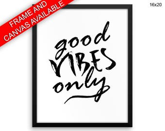 Good Vibes Prints  Good Vibes Canvas Wall Art Good Vibes Framed Print Good Vibes Wall Art Canvas Good Vibes Minimalist Art Good Vibes
