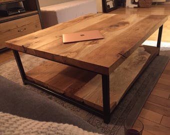 Handmade Oak & Steel Coffee Table