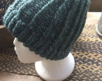 Teal and Gray Beanie