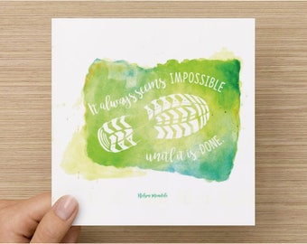 Inspirational card for athletes - Limited print run!