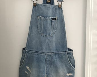 Lee Short Denim Overalls