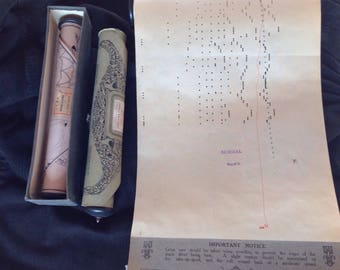 Set of 3 former perforated music rolls see photos and titles